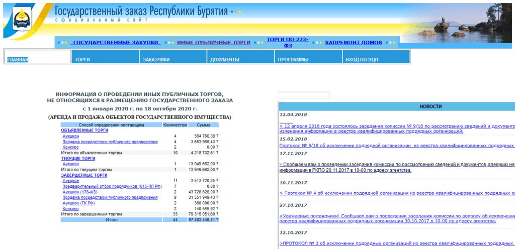 Государственный заказ Республики Бурятия